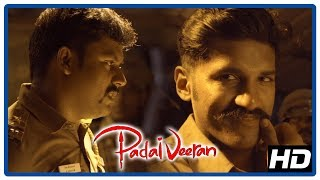 Padaiveeran Movie Highlight Scene   Bharathiraja advises Vijay Yesudas   Villagers attack police