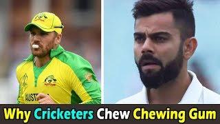 Why Cricketers Chew Chewing Gum । क्रिकेटर्स च्युइंग गम क्यों लेते हैं