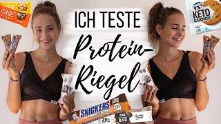 ÜBER 30 PROTEINRIEGEL TEST (Vegan!! Supermarkt, Cookies,..) // annrahel