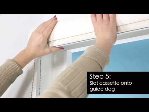 How to Install - Zebra Roller Blind - Recess Fitting