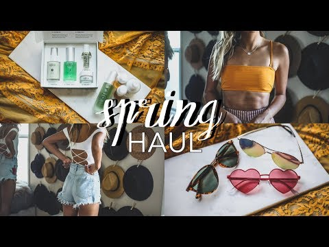 Spring Must-Haves: Beauty, Skincare & Try On Clothing Haul