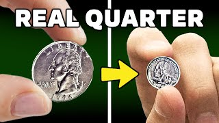 How to shrink a quarter with electricity