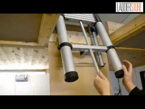 Using the Youngman Telescopic Loft Ladder