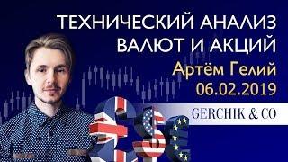 ≡ Технический анализ валют и акций от Артёма Гелий 06.02.2019.
