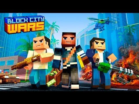 Block City Wars обзор игры #1 Красивая машинка и Разборки со-спортсменами