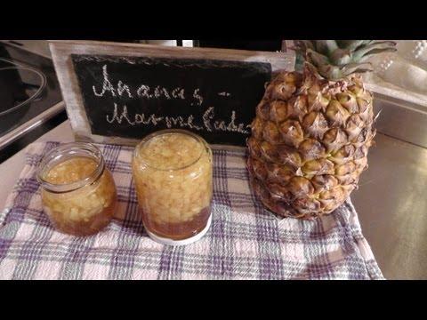 Ananasmarmelade Rezept mit Rum und Vanille - Der Bio Koch #437