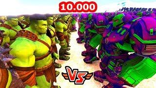 10.000 HULK VS 100 HULKBUSTER 😱 - Süper Kahramanlar