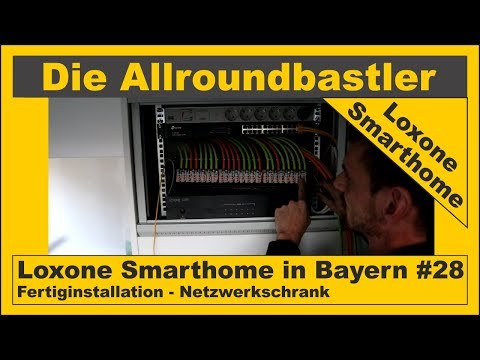 Loxone Smarthome - Fertiginstallation in Bayern #28 - Netzwerkschrank