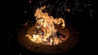 Backyard Fire Pit - 10 Hours In Real Time (No Loops)