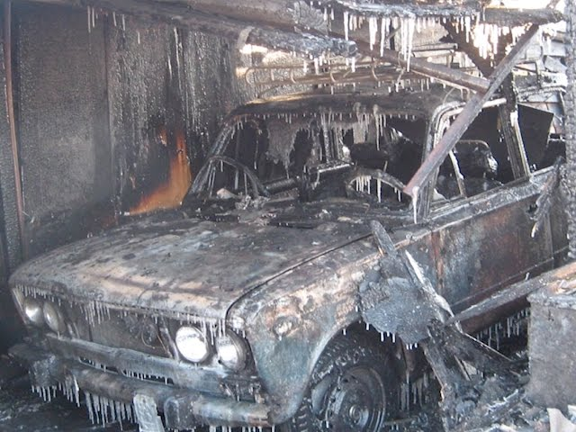 Два дома сгорели в Ангарске