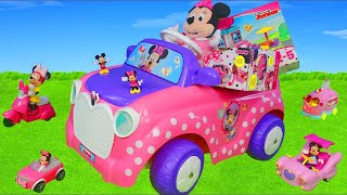 Minnie Mouse Unboxing: Mickey Clubhouse, Ride On Cars, Bow Tique & Toy Vehicles Surprise for Kids