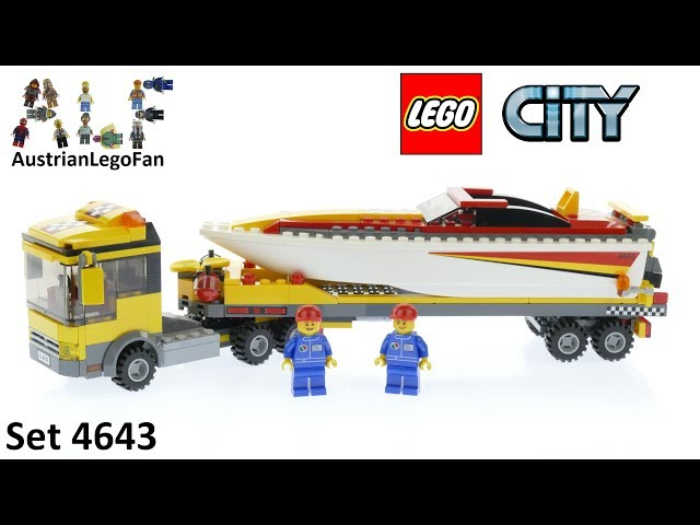 Lego City 4643 Power Boat Transporter - Lego Speed Build Review