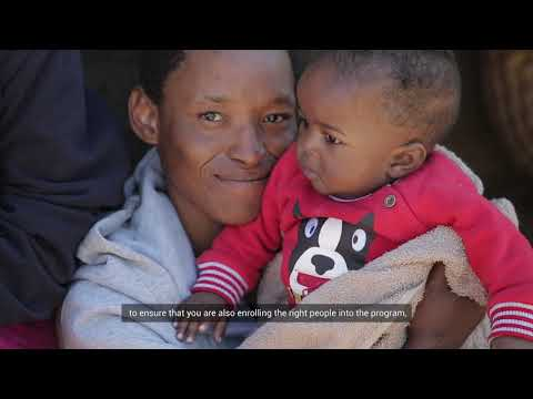 Reaching Lesotho's most vulnerable families