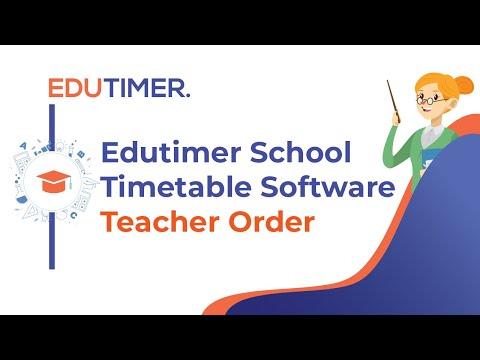 School Timetable Software ( Teacher Order )