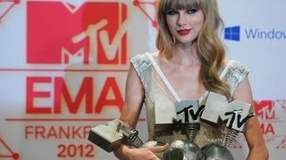 Музыкальный канал МТV, Taylor Swift Dominates 2012 MTV EMA, Rihanna Snubbed- FULL WINNER LI