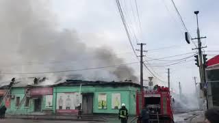 В Одессе горит Новая Почта. Видео