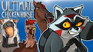 WE PLAYED ULTIMATE CHICKEN HORSE! (With Cartoonz, Ohm & Squirrel)
