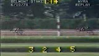 Affirmed vs. Alydar - 1978 Belmont Stakes (9th Meeting)