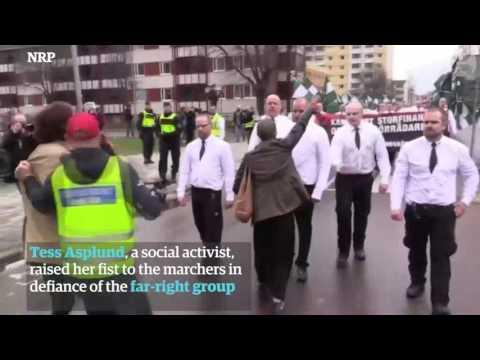 Una mujer desafia a 300 nazis