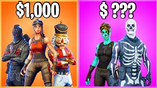 TOP 10 MOST EXPENSIVE FORTNITE ACCOUNTS (do NOT Buy these)