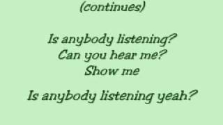 danity kane-is anybody listening lyrics