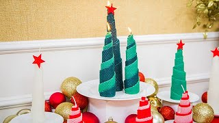 DIY Beeswax Christmas Candles - Home & Family