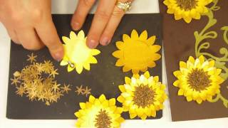 How To Make A 3D Paper Sunflower.MP4