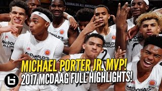 Michael Porter Jr. Wins MVP! 2017 McDonald's All American Game Highlights!