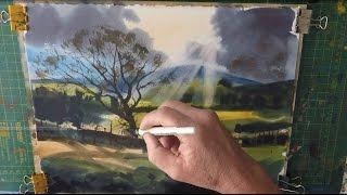 How to paint a Landscape Watercolour