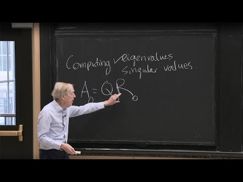 Lecture 12: Computing Eigenvalues and Singular Values