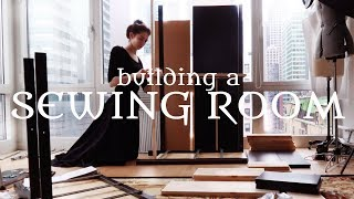 Turning My Apartment into a Cosy Sewing Space & Organizing Things    VLOG