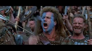 Английские лучники обстреливают шотландцев. HD