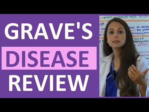 Video Graves Disease Nursing NCLEX Lecture Pathophysiology Treatment & Symptoms