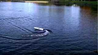 preview picture of video 'Aquacraft Rio Ep Rc boat in Little Lake Peterborough Ont. Part #1 HD'