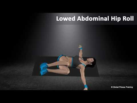 Lowed abdominal hip roll