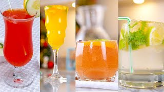 How To Make FOUR Classic Cocktail & Mocktail Recipes - SIMPLE DRINK RECIPES - ZEELICIOUS FOODS