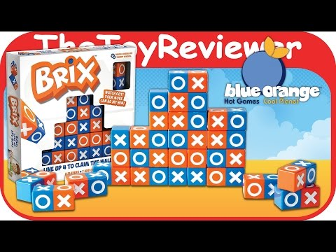 Brix Board Game by Blue Orange Strategy Connect 4 Tic-Tac-Toe Unboxing Toy Review by TheToyReviewer