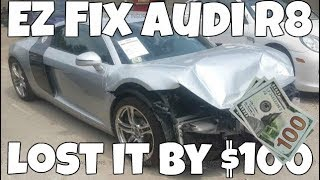 I Lost this Salvage Audi R8 by ONLY $100! Why I stopped bidding *HUGE MISTAKE*
