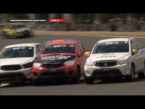 SsangYong Racing Series 2019. Race 1 Manfeild Circuit. Final Laps