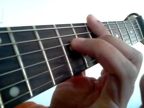 Ebmaj7 Guitar Chord