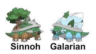 Grotle  - (Pokémon) - SINNOH Starters GALAR FORM : GALARIAN Turtwig Grotle Torterra