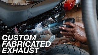 300cc Grom gets a FULL custom exhaust!!