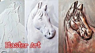 Horse Head. Plaster Art. 😲