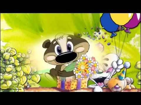 Мультяшное Поздравление ребенку С днем рождения,Малыш!