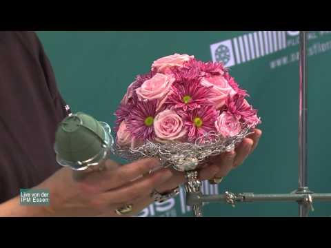 Floristikideen für Brautstraußhalter und Brautsträuße