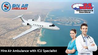 Air Ambulance from Gwalior and Bilaspur to Delhi with Monitoring Tools
