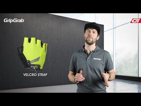 GripGrab Progel cykelhandsker Hi-Vis Pink video