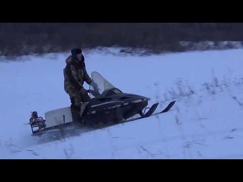 Покатушки на снегоходе с двигателем Лифан 17л.с.