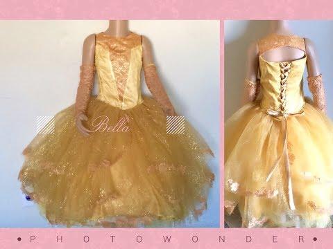 Confecciona vestido princesa  bella disfraz