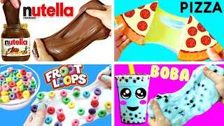 5 DIY FOOD SLIMES | Stress Relievers (Slime, Squishy, Stress Balls)